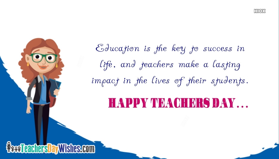 Happy Teachers Day Card Quotes