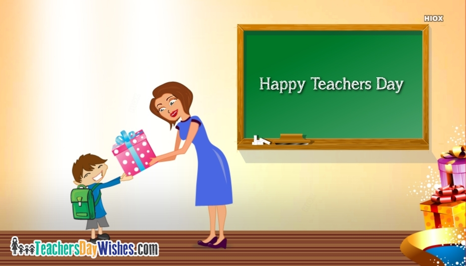 Happy Teachers Day Cartoon Image