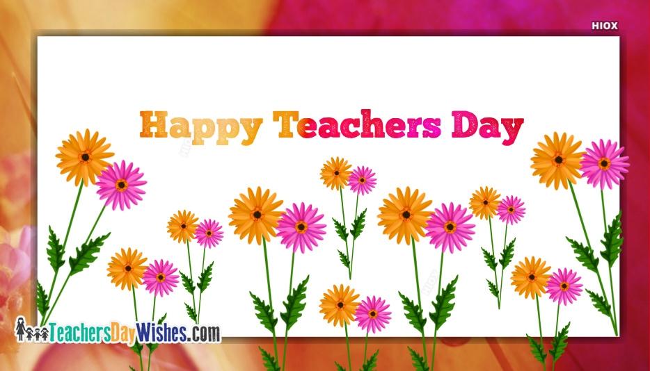Happy Teachers Day Flower Image
