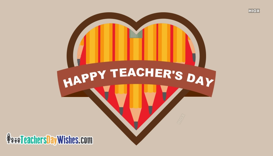 Happy Teachers Day Heart