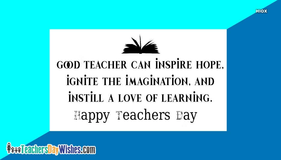 Happy Teachers Day Image With Quote
