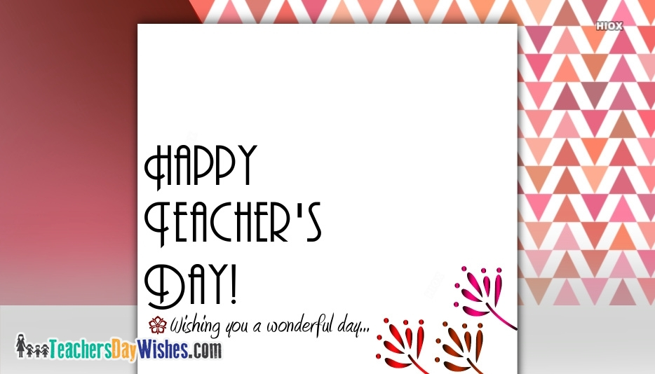 Happy Teachers Day Msg