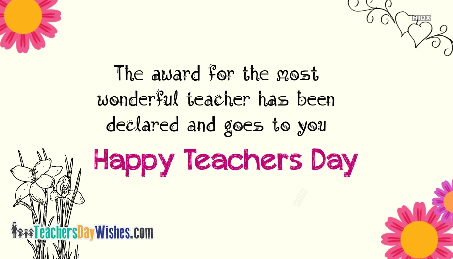 Happy Teachers Day Messages Images