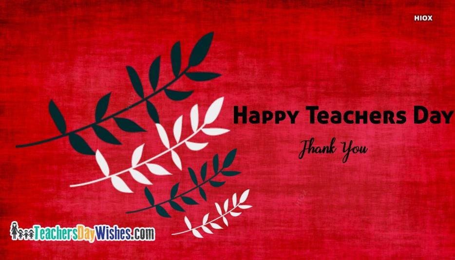 Happy Teachers Day Thankful