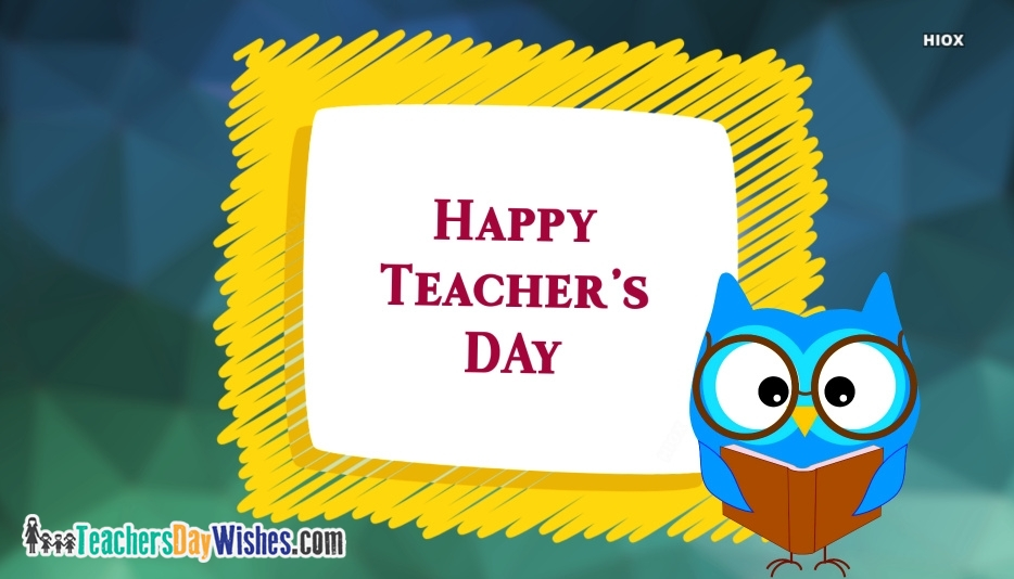 Happy Teachers Day Owl Images