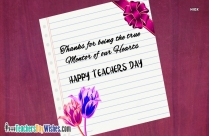 Happy Teacher Day Quotes In English