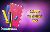 Happy Teachers Day Today