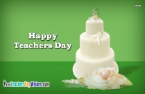 Happy Teachers Day Cake