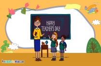 Happy Teachers Day Drawing Image