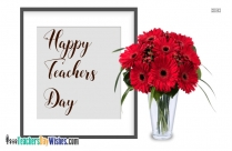 Happy Teachers Day Rose Pic