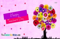 Happy Teachers Day Flowers Images