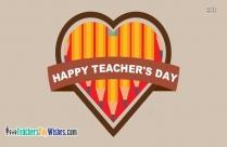 Happy Teachers Day Heart
