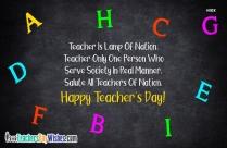 Happy Teachers Day Lines