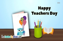 Happy Teachers Day Message Card