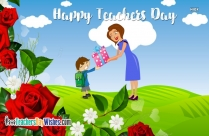 Happy Teachers Day Rose
