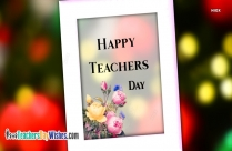 Happy Teachers Day SMS