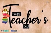 Happy Teachers Day Writing