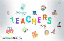 Happy Teachers Day With Flowers