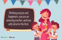 Happy Teachers Day And Thank You Message