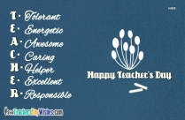 Happy Teachers Day Card Design